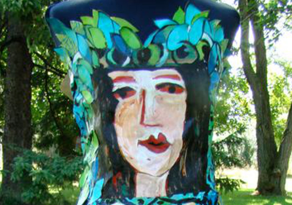 Artist : Liz Maltman                                 <br>                                 Medium : Mixed Media                                 <br>                                 Paper Dress constructed for Say Yes to the Dress Fundraiser                                 <br>                                 SOLD